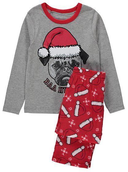 pug pyjama pug pyjama set george at asda