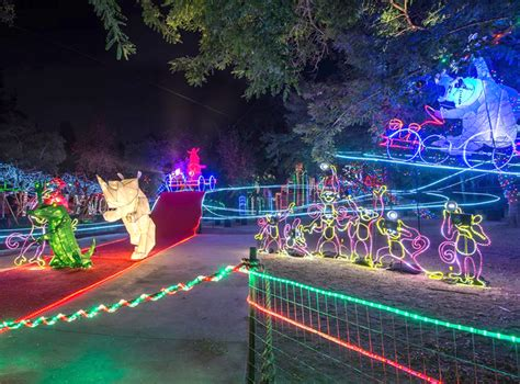 Los Angeles Zoo Becomes An Illuminated Wonderland For Zoo Lights Admission