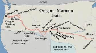map of the oregon trail with landmarks mormon trail map lds