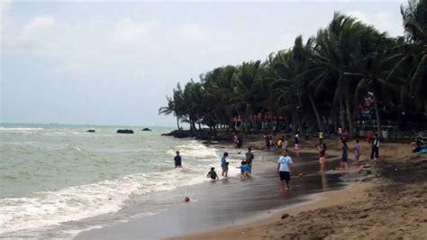 pantai anyer tempat wisata  serang banten youtube