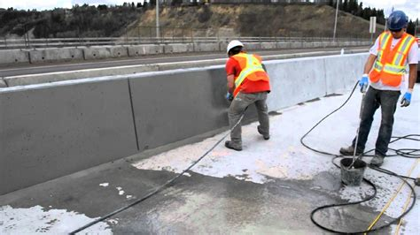 How To Grout by Sack And Rub Finish Bridge Concrete Barriers Avi Youtube