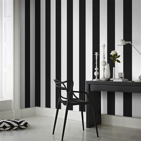Tapisserie Rayures papier peint intiss 233 rayures noir leroy merlin