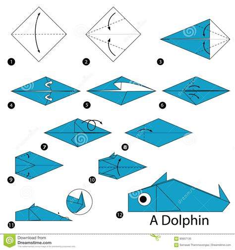 How To Make Toys With Paper Step By Step - step by step how to make origami a dolphin