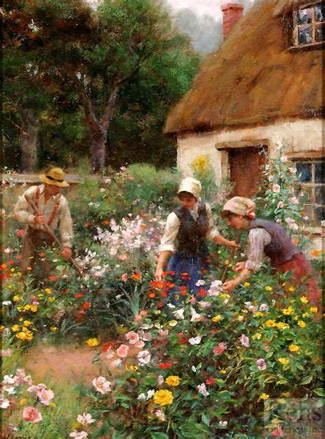 Cottage Garden Paintings by A Cottage Garden Rehs Galleries Inc
