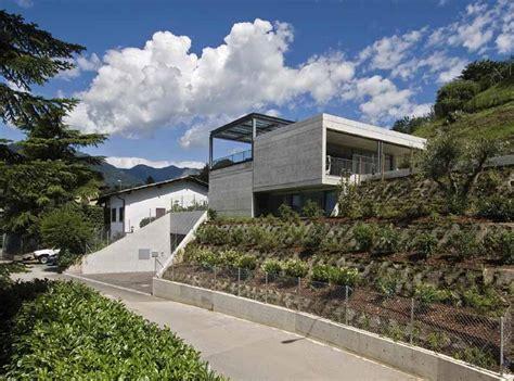 home hillside plot above road level kerala design house plans comano house ticino home photos comano property e