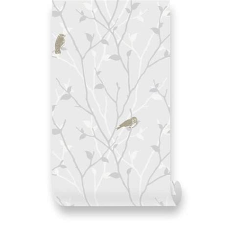 grey removable wallpaper branch and birds grey removable wallpaper pinknbluebaby com