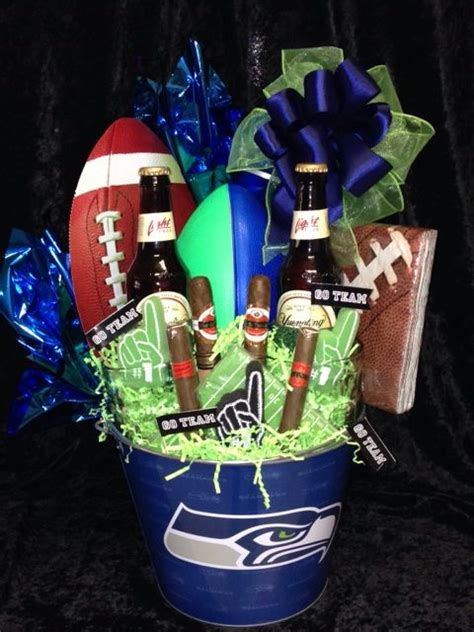 seattle seahawks fan basket donnas gift creations pinterest seattle seahawks  seattle