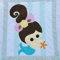 Ready Mermaid Blanket Baby 4 modern chevron deer baby quilt from createdbymammy