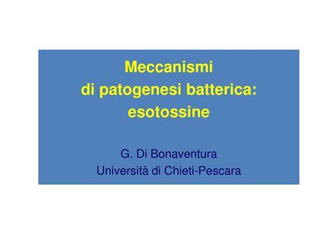 dispense microbiologia esotossine batteriche dispense