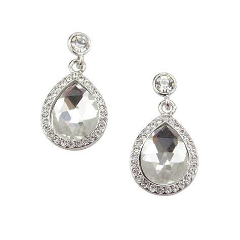 Chardonnay Crystal Earrings   Bridal Jewellery   Crystal Bridal Accessories