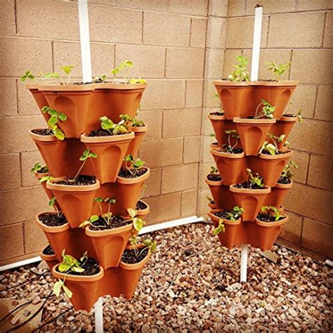Vertical Vegetable Garden Planters 5 Tier Stackable Strawberry Herb Flower And Vegetable