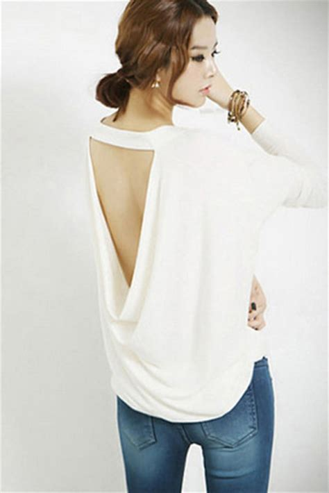 backless drape top t shirt backless drape top white top draped dress