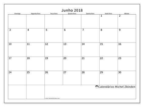 Calendario Junho De 2018 Calend 225 Rios Junho De 2018 Ds
