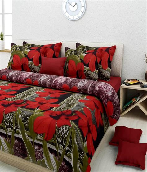 3d bed sheets homefab india double 3d polycotton 3d print bed sheet