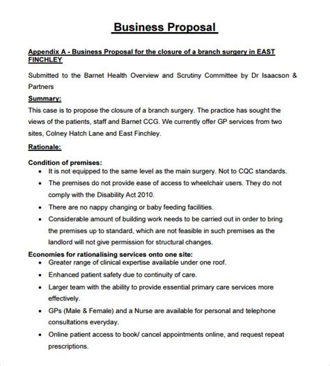 Business Proposals Template sle business 15 documents in pdf word