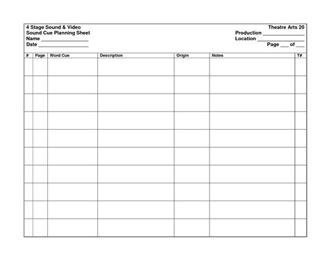 sound template sound cue sheet related keywords sound cue sheet