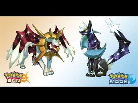 "2 new legendary pokemon ""solgaleo"" and ""lunaala"