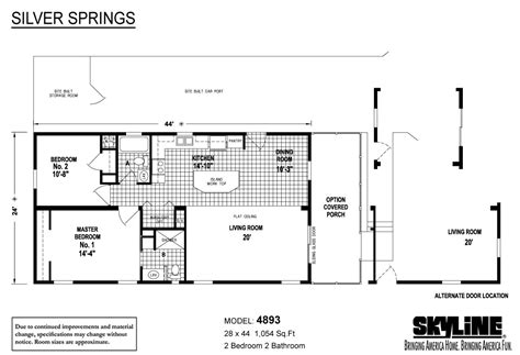 skyline mobile home floor plans silver springs 4893 by