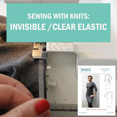 sewing with knits sewing with knits invisible clear elastic in the neckline