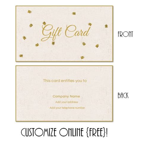 wedding present voucher ideas gift card template