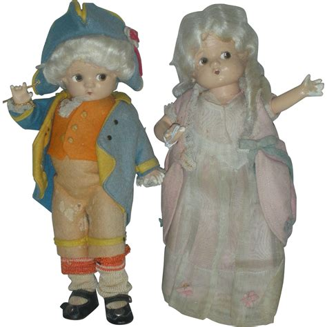 effanbee composition doll vintage vintage pair of composition effanbee george and martha