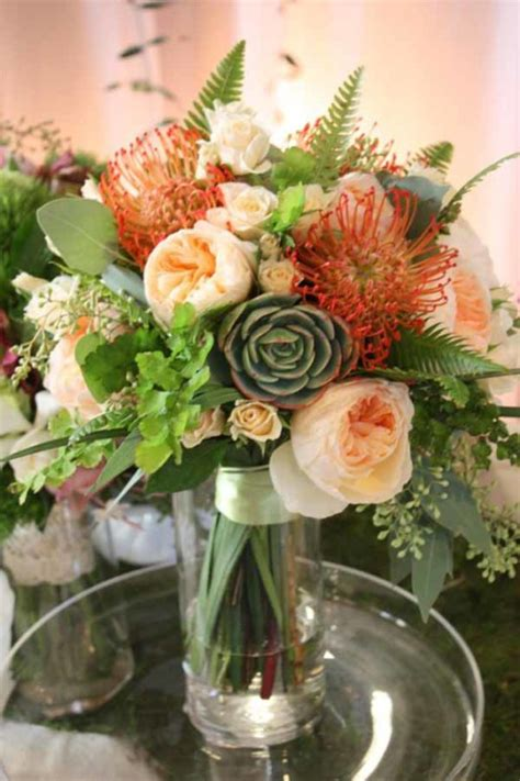 Wedding Bouquet With Succulents by Wedding Wednesday Bouquets With Succulents Flirty