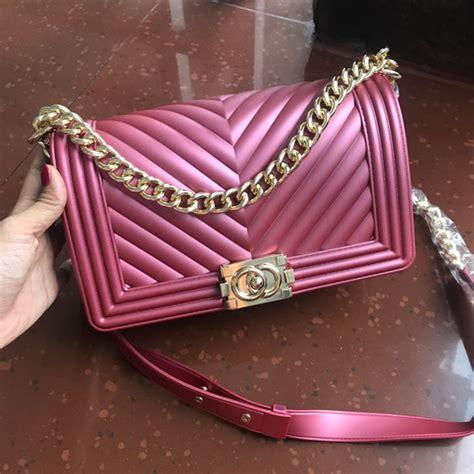 Furla Behel Jelly Matte jual tas branded ch leboy chevron jelly matte import 25 cm pink murah kwalitas tas import
