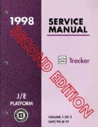 1998 chevrolet geo tracker factory service manual
