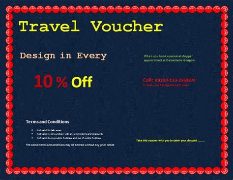 Printable Travel Vouchers | travel voucher template voucher templates