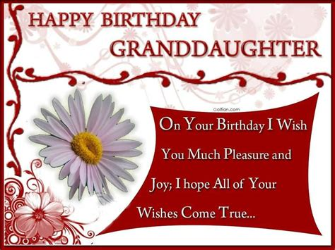 Birthday Quotes For A From 65 Popular Birthday Wishes For Granddaughter Beautiful