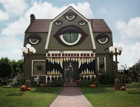 monter house artist transforms her parents home into a haunted monster