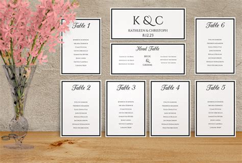 Wedding Seating Chart Template 11 Free Sle Exle Wedding Table Chart Template
