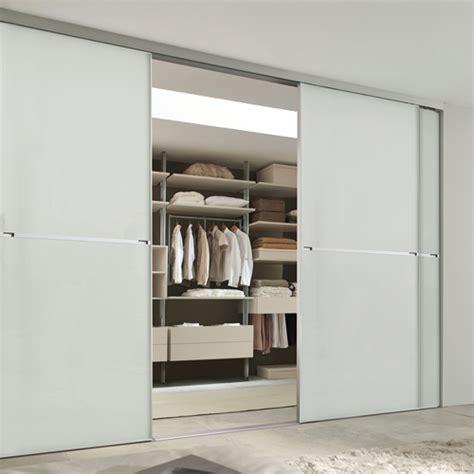 White Glass Sliding Wardrobe Doors Minimalist 2 Panel Silver Frame Sliding Wardrobe Door With Soft White Glass