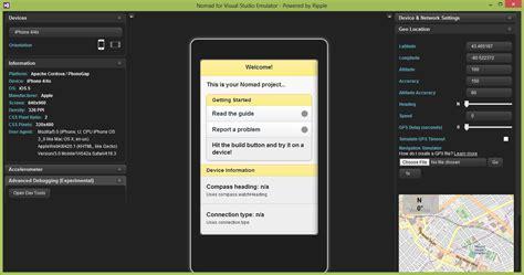 phonegap android tutorial visual studio infragistics community