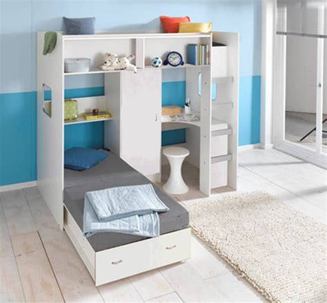 High Sleeper Bed With Futon Roland Childrens High Sleeper Loft Bed
