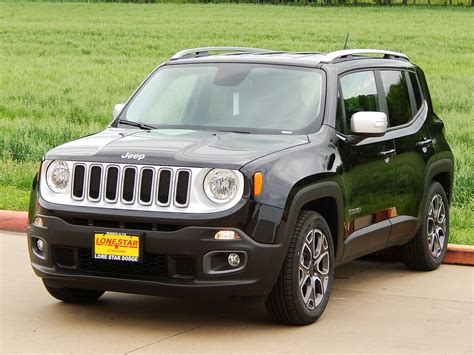 jeep renegade black 2015 jeep renegade limited with black leather trimmed