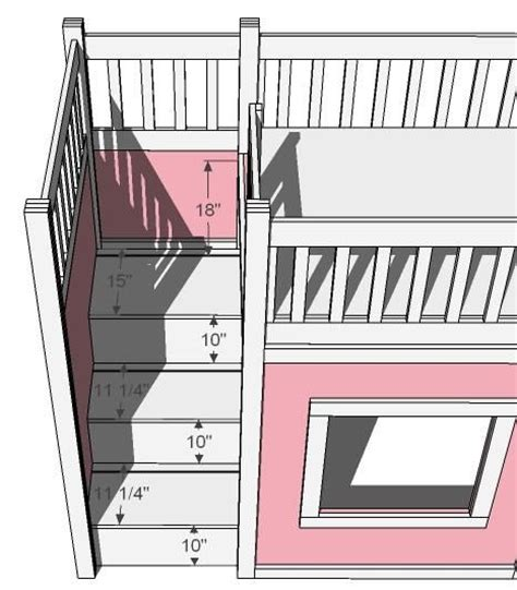 Bunk Bed Plans With Stairs White Build A Storage Stairs For The Playhouse Loft Bed Free And Easy Diy Project And