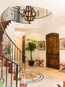 Circular Entryway how to decorate foyer with spiral staircase native home