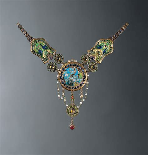 comfort jewelry louis comfort tiffany necklace c 1903 6 peacock and
