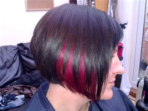 short hairstyles color streaks 145 best hair here hair there images on pinterest short