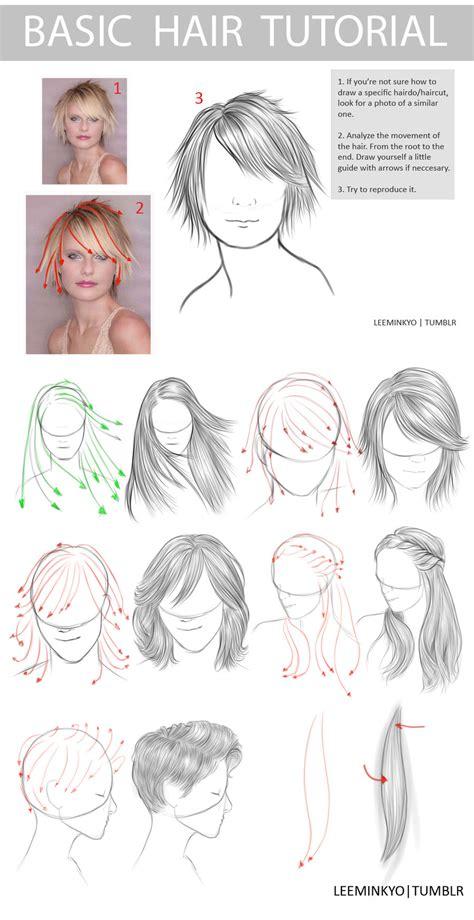 Drawing Hairstyles Pdf | basic hair tutorial hair styles by leeminkyo on deviantart