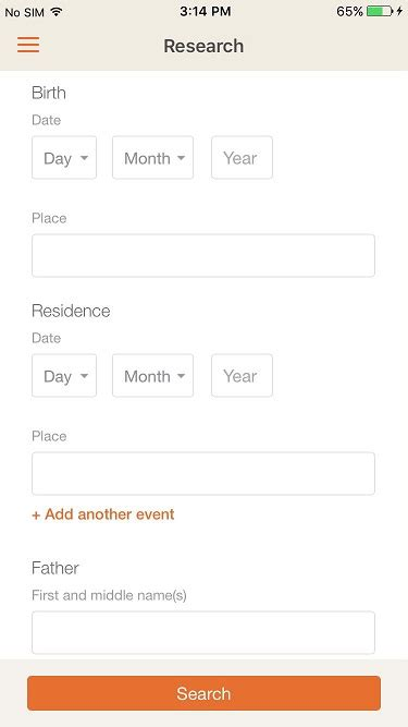 Search Birth Records By Date New Update To The Myheritage Mobile App 171 Myheritage