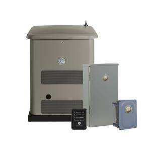 ge 10 000 watt air cooled home generator system with
