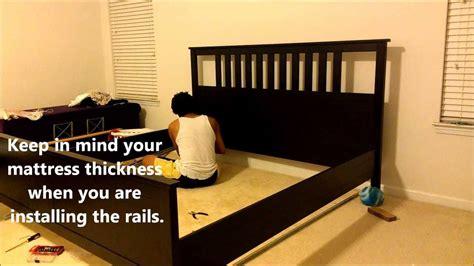 Ikea King Bed Assembling An Ikea Hemnes Bed Youtube