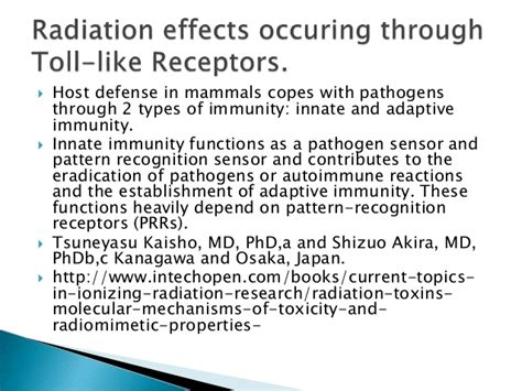 pattern recognition receptors in innate immunity host defense and immunopathology radiation toxicity toll like receptors