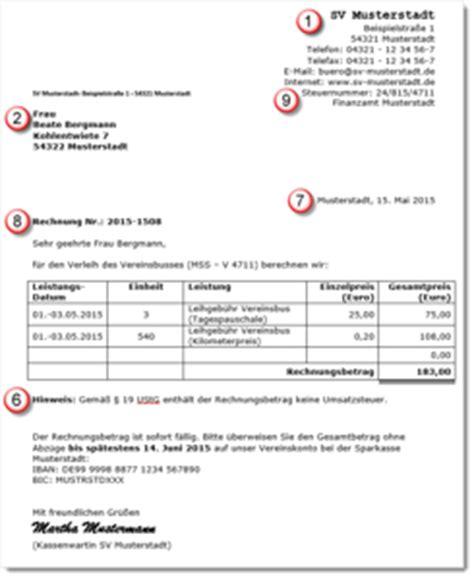 Muster Rechnung Gemeinnütziger Verein Rechnungsmuster F 252 R Vereine So Stellt Ihr E V Korrekte Rechnungen Aus Akademie De