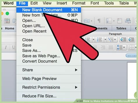 how to customize an invitation template in microsoft word youtube