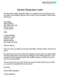 Resignation Letter Format Brief Explaining Friendly