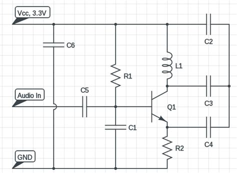 single transistor fm transmitter circuit diagram fm transmitter circuit using c9018 transistor circuits diy