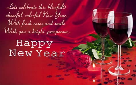 wine new year happy new year glasses with wine greeting